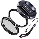 LUMOS Creative - Juego de filtros UV CPL (49 mm, compatible con objetivos Sony Alpha 6000 5000 NEX 6)