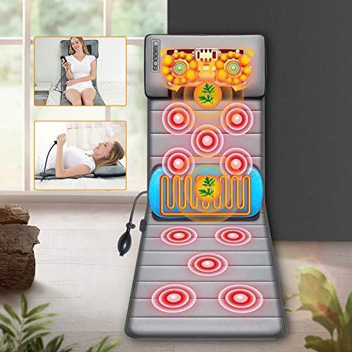 TOPQSC Ganzkörpermassagegerät mit Wärmefunktion Mit 20 Halsköpfe,10 Rücken, Akupressur Massagegerät Massagematte mit Wärme Massage-Matratze Pad Massage Matte Elektrisch Muskelentspannung