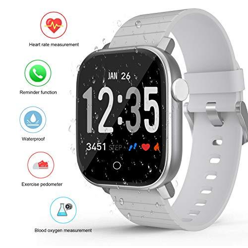 Smartwatch, DUODUOGO K26 IP67 Wasserdicht Bluetooth Smartwatch für Herren Damen Kinder Kompatibel mit Android iOS Aktivitätstracker mit Herzfrequenzmesser, Akku 200 mAh