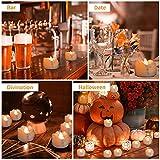 Kasimir e kerzen LED Kerzen Flammenlose 15 Stück Teelichter mit Timer 6 Std an - 18 Std aus - Realistisches Flammenflackern Für Hochzeiten Feste Partys usw. Inkl CR2032 Batterien Bernstein - 6