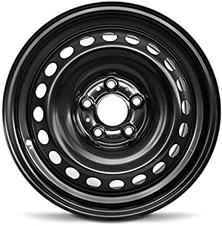 Road Ready Car Wheel For 2013-2019 Nissan Sentra 16 Inch 5 Lug Black Steel Rim Fits R16 Tire - Exact OEM Replacement - Ful...