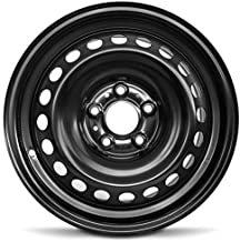 Best Road Ready Car Wheel For 2013-2019 Nissan Sentra 16 Inch 5 Lug Black Steel Rim Fits R16 Tire - Exact OEM Replacement - Full-Size Spare Review