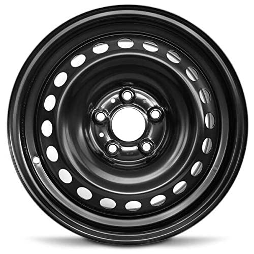 Road Ready Car Wheel For 2013-2019 Nissan Sentra 16 Inch 5 Lug Black Steel Rim Fits R16 Tire - Exact OEM Replacement - Full-Size Spare