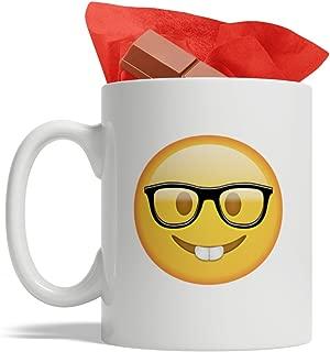 BijouLand - Funny Nerd Emoji Ceramic Coffee Mug 11oz Made in USA Fast Shipping