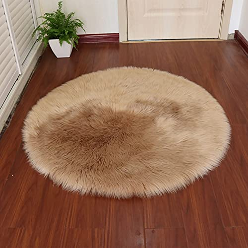 TopHomer Alfombras suaves de piel de oveja artificial de forro polar sintético para silla, cojín...