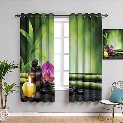 Spa Decor Schlafzimmer Decor Blackout Shades Orchidee Bambus Stiele Chakra Steine Japanische Alternative Feng Shui...