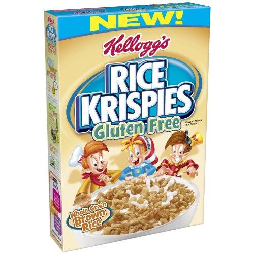 Kelloggs Rice Krispies Gluten Free Cereal, Whole Grain Brown Rice ... (2 Pack)