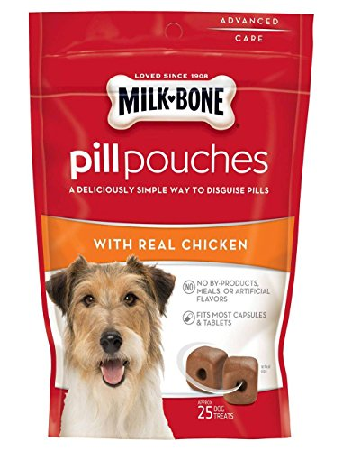 Milk Bone Pill Pouches With Real Chicken Aprox 25 pill pouches per bag 2 Pack
