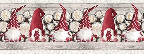 Pellecchia Colori Tappeto Cucina Antiscivolo Lavabile in Vinile   Passatoia Antimacchia in PVC/Cotone Interni ed Esterni Stampa Digitale GNOMI ROSSI   Retro in gomma (52 x 100)