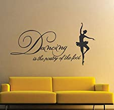 DecorVilla Dancing Girl Wall Sticker and Decal (PVC Vinyl, 114 x 58 cm)