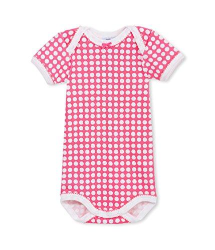 Petit Bateau Body MC, Rosa (Lait/Geisha 17), 62 cm (Talla del Fabricante: 3m/60cm) para Bebés