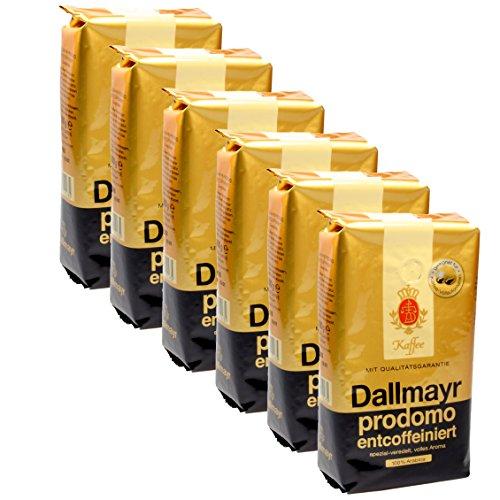 Dallmayr prodomo entcoffeiniert Ganze Bohnen, 500g 6er Pack