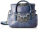 Desigual Bag Tekila Sunrise Loverty, Bolso Plegable para Mujer, Azul (Petrucho), U