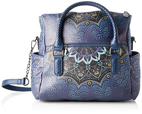 Desigual Damen Bag Tekila Sunrise Loverty Petrucho Henkeltasche Blau (Petrucho)