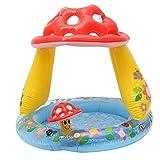 chen Flotador inflable para piscina de bebé, con toldo para el techo, piscinas, asiento de bebé, barco, juguetes de agua para niños, brillante y colorido
