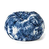 Christopher Knight Home Isaac Modern 3 Foot Sorbet Tie-Dye Bean Bag, Blue and White