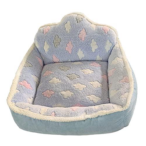 Pet Nave Sofa Cama DE Perro CABA DE Cat Tedda Bichon Invierno Cumple-Azul_75 * 65 * 20cm