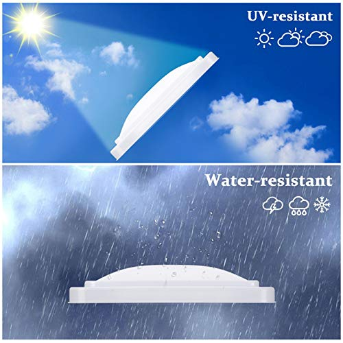VETOMILE 14'x 14' RV Roof Vent Cover White Universal Replacement Vent Lid for Camper Trailer Motorhome