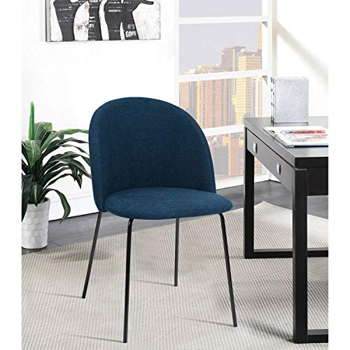 FurnitureR Juego de 2 sillas de comedor, sillas de cocina con respaldo acolchado de tela, sala de estar…