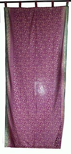 lakkar haveli Cubierta de la ventana de la India de la cubierta de la puerta de las cortinas de tela Georgette drape Panel Precio por cortina Color