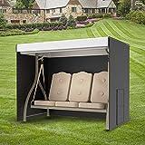 JTWEB - Funda para hamaca de jardín (3 plazas, impermeable, resistente a prueba de viento, resistente a los rayos UV, 210D, tela Oxford, cubierta para hamaca con bolsillo lateral