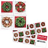 USPS Forever Holiday Wreaths - Book of 20 Postage Stamps