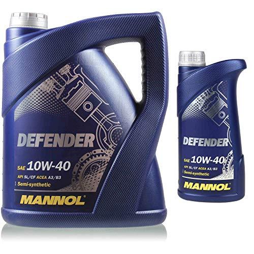 6 litros de aceite de motor original Mannol Defender 10W-40 11192459