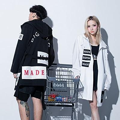 Smk100 Bigbang 2015 Made Paragraphs Bathrobe Long Hooded Thin Coat Dust Coat Embroidered Printing Mens/womens