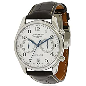 Longines Master Chronograph Silver Dial Brown Leather Mens Watch L26294783 Shop and For Sale and review