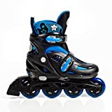 High Bounce Adjustable Inline Skate (Blue, Medium (2-5) ABEC 5)