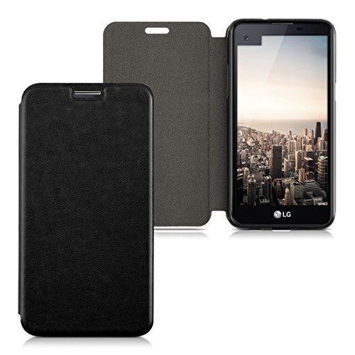 kwmobile Cover Compatibile con LG X Screen - Custodia a Libro in Simil Pelle PU per Smartphone - Flip Case Protettiva