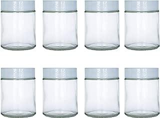 6 oz Glass Jars Fit Instant Pot, Euro Cuisine GY1920, and Gourmia GYM1710 Yogurt Makers, Set of 8
