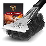 Best Grill Brushes - GRILLME Grill Brush with Nylon Bag and Attached Review