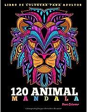 Libro de Colorear Para Adultos : 120 Animal Mandalas Para Colorear: 129 Animal Mandalas Para Colorear | Diseños de animal mandala para aliviar el ... | Hermosas Animal Mandalas Libro Par