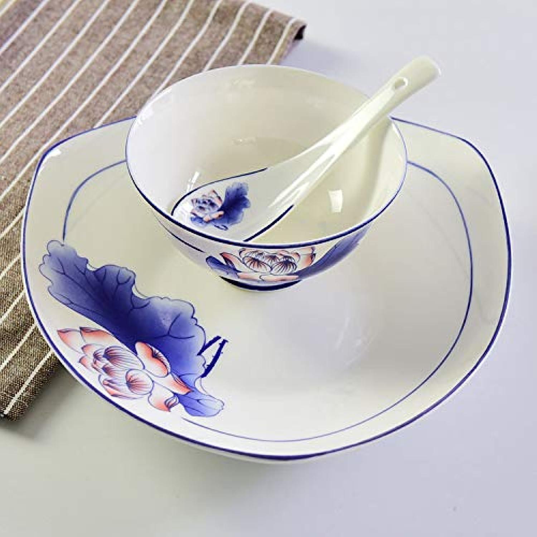 Taihang Service de vaisselle en céramique Set de vaisselle en porcelaine tendre