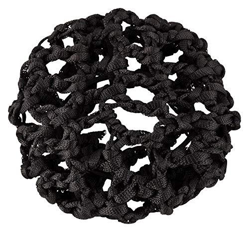 tanzmuster ® Duttnetz Ballett Kinder - Clara - Knotennetz für den perfekten Dutt (mit Haargummi) schwarz