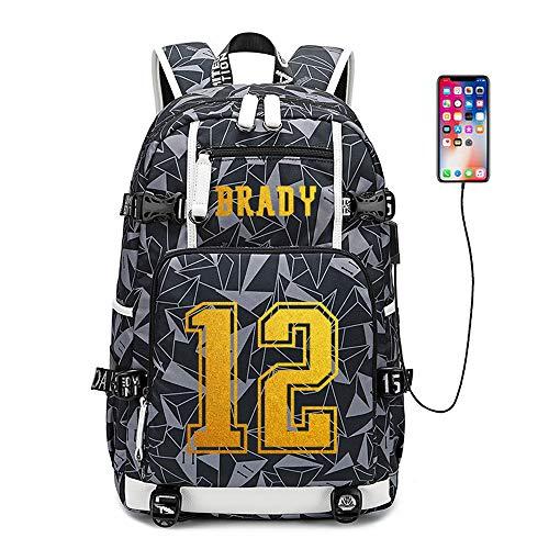 Lorh's store Jugador de fútbol Americano Estrella Tom Brady Mochila multifunción Viajes...