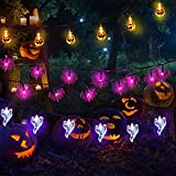 Luci di Halloween Outdoor Halloween String Lights 3 Pack 8,8 m 60 LED 3D zucca fantasma pipistrello stringa luci a batteria Halloween decorazioni per esterni interni Halloween Party