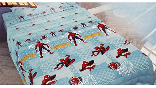 Russo Tessuti Copriletto Trapuntato Trapuntino Marvel Spiderman Fiero Letto Singolo