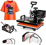 Pro 5 in 1 TUSY Heat Press Machine 15x15 Swing Away Heat Transfer Press Digital Sublimation for T-Shirts Mugs Caps Plates Hats