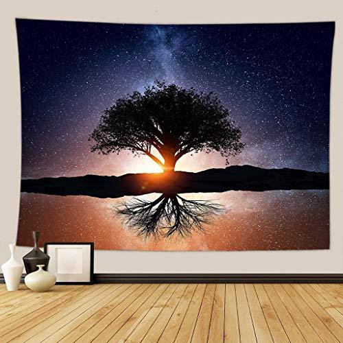 Hermoso paisaje de fondo decoración de tela tapiz de tela decoración del hogar tapiz mural toalla de playa a10 73x95cm