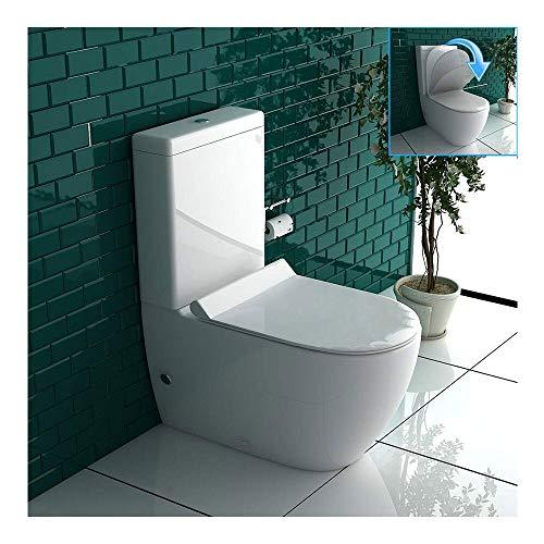 Inodoro de diseño de cerámica con cisterna y duroplast, con función de...