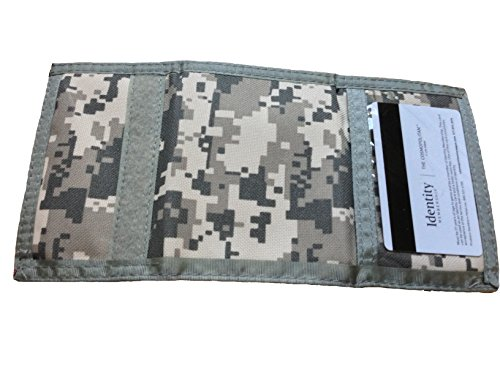 Tri-fold ACU Army/Navy Camouflage Commando Card Wallet with ID Window for Men (Pack of 1)
