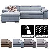 Cavadore Ecksofa Aniamo mit XL-Longchair rechts / Eckcouch mit Kopfteilfunktion im modernen Design /...