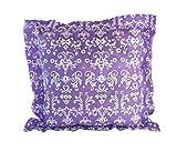 - Lavendelkissen - Duftkissen - Zierkissen mit echtem Lavendel (Lila - Design weiß, 33 x 33 cm)
