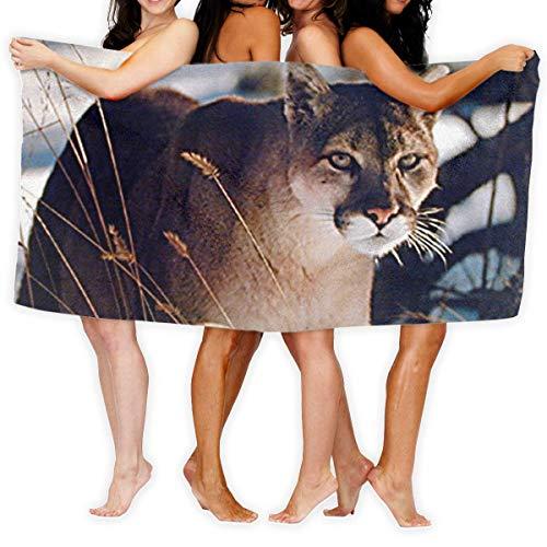 Night-Shop Puma Secado rápido Toallas de Playa Personalidad Toallas de baño Toallas Manta de Playa para Botes Piscina Playa y Viajes