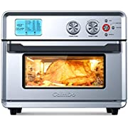 CalmDo Air Fryer Convection Oven, 25L Stainless Steel Toaster Oven with 21 Preset Cooking Programs, Oil-Free Fries, Roast, Bake, Toast, Defrost, Sous Vide and Food Dehydrator, Recipe Included