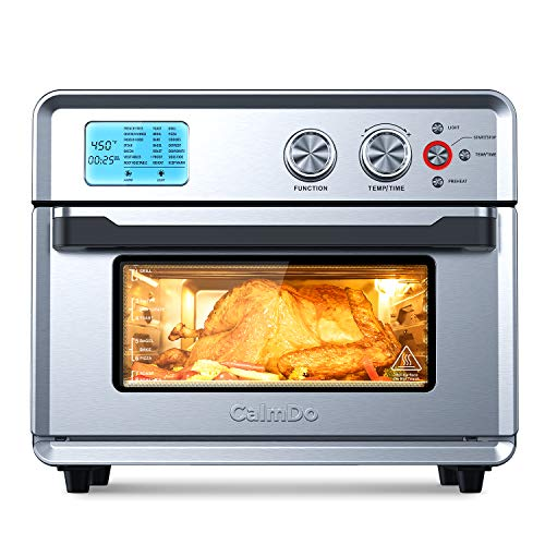 CalmDo Fryer Toaster Oven, 26.3 QT Convection Toaster Oven with 21 Preset Cooking Functions