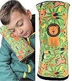 Almohadilla HECKBO para coche con dibujos de la jungla para niños - lavable a máquina suave, tacto de peluche, almohadilla cinturón de seguridad