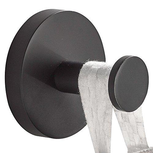 CASEWIND Handtuchhaken Edelstahl Antik Schwarz Kleiderhaken Mantelhaken, Wandmontieren für Badezimmer Tür Amerikanisch Stil Zum Bohren